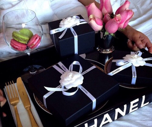 chanel, flowers, and gift image