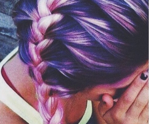 braid, colored hair, and tumblr image