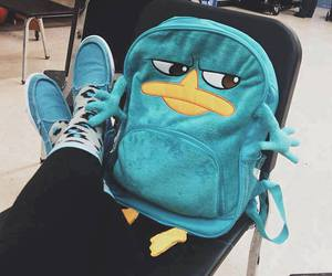 perry, backpack, and blue image