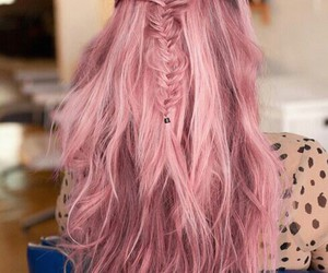 dye, pink, and hair image