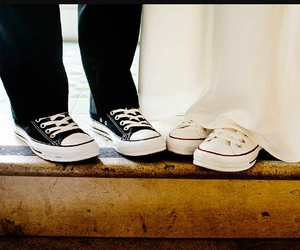 converse and wedding image