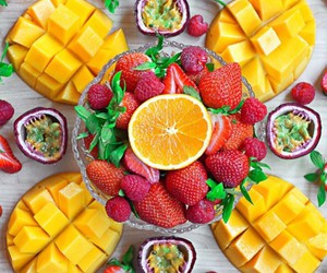 fruit, mango, and healthy food image