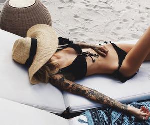 bikini, body, and brunette image