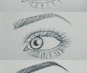 drawing, how to draw, and eyes image