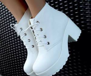shoes, white, and boots image