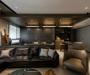 apartments, dark, and decor image