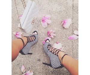heels, shoes, and flowers image