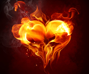fire, love, and heart image