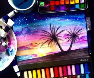 draw, beach, and beautiful image