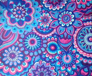 blue, drawing, and pink image