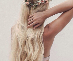 hair, blonde, and long hair image
