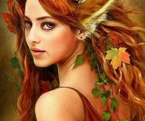 beautiful, fairy, and leaf image