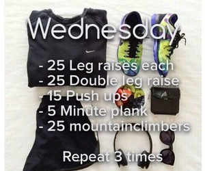fitness, routine, and wednesday image