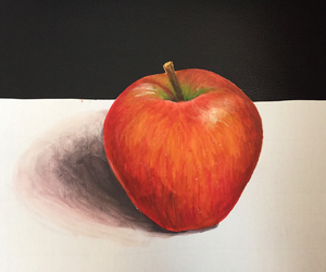 apple, art, and paint image