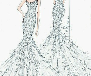 drawings, dress, and scetch image