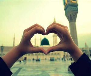 islam, mosque, and heart image