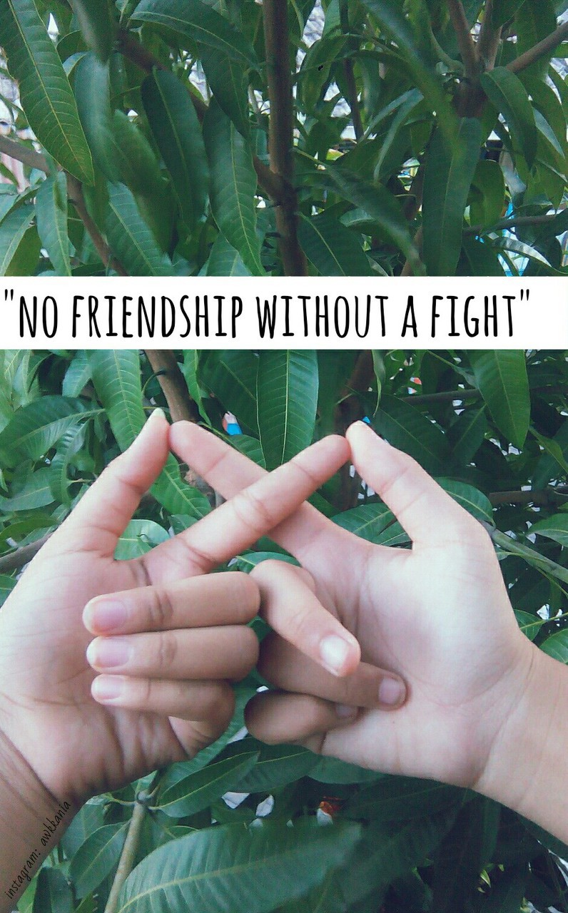 no friendship without a fight😘 on We Heart It