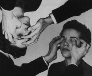 boy, eyes, and black and white image