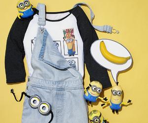 minions, banana, and fashion image