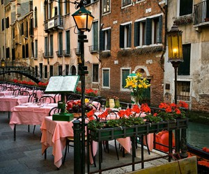 restaurant, travel, and venice image