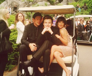 lea michele, cory monteith, and chris colfer image