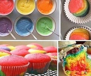 colours, muffins, and rainbowl image
