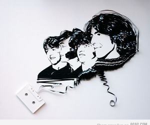 beatles, music, and art image