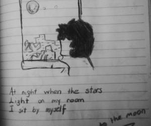 alone, boy, and art image