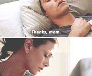 teen wolf, mom, and sad image