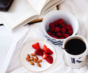 coffee, fruit, and morning image