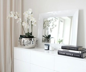 white, flowers, and room image