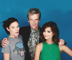 bbc, clara, and doctor who image