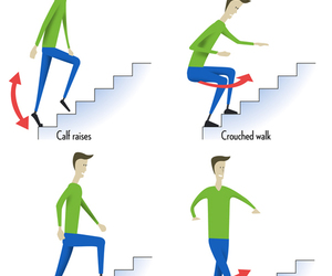 workout, stairs workout, and finness image