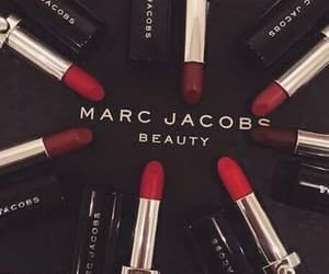 lipstick, marc jacobs, and makeup image
