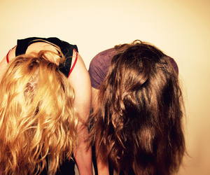 best friends, brunette, and girl image