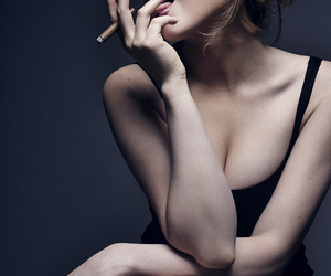 actress, cigarette, and fashion image