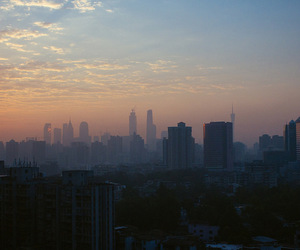 city, sky, and soft grunge image