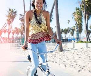 beach, bike, and hollister image