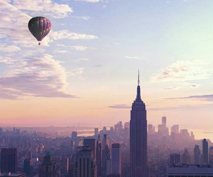 balloons, building, and city image
