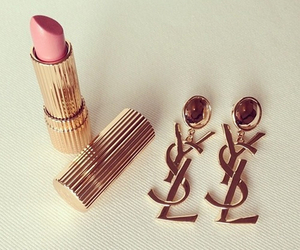 lipstick, YSL, and gold image