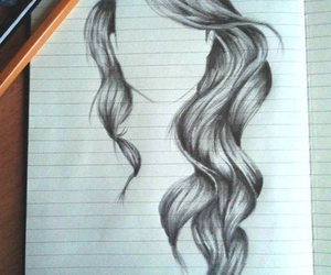 drawing, hair, and doodle image