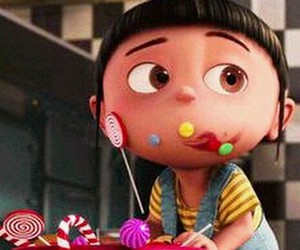 candy, agnes, and minions image
