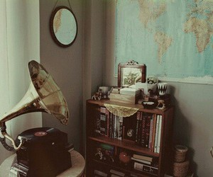 vintage, music, and map image