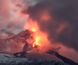 mountain, nature, and volcano image