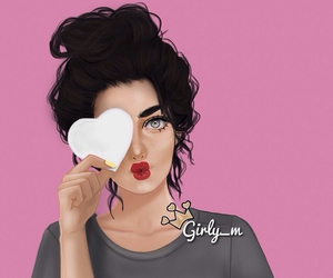 girly_m, drawing, and heart image