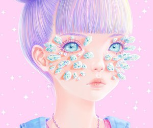 pastel, art, and saccstry image