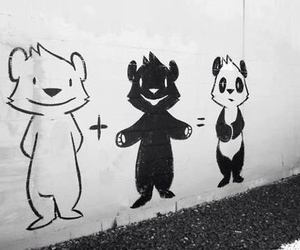 panda, bear, and black image