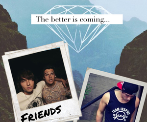 background, wesley stromberg, and friends image