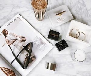 white, coffee, and magazine image