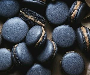 food, black, and macaroons image